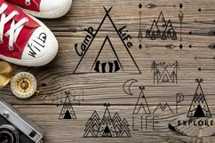 Camping life Graphic. 13 illustration in doodle style Product Image 8