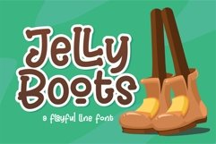 Jelly Boots - Playfull Line Font Product Image 5