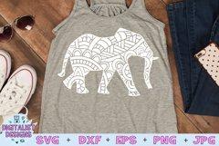 Elephant SVG | Mandala SVG | Zentangle SVG | Cricut Product Image 1