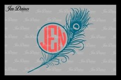 Peacock Feather SVG DXF EPS PNG Product Image 2