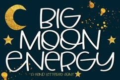 Web Font Big Moon Energy - A Hand Lettered Font Product Image 1