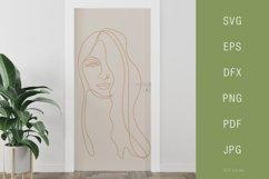 One line portrait illustration SVG PNG Face 3 Product Image 3