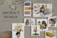 Abstract female watercolor clipart Boho woman Abstract Product Image 1
