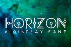 HORIZON - A Display Font Product Image 1