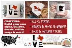 50 states bundle svg dxf United states svg silhouette cricut Product Image 1