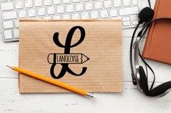 Web Font Teacher Pencil Monogram Split Font Product Image 4