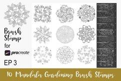 10 Procreate Brushes Mandala Procreate Stamps EP3 Product Image 1
