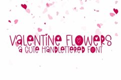 Web Font Valentine Flowers - A Valentine's Day Font Product Image 1