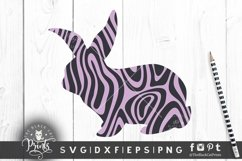 Easter Bunny SVG Easter Clipart SVG Buffalo Plaid Bunny SVG Product Image 4