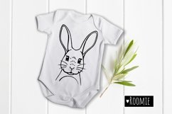 Rabbit, Bunny face svg, Happy Easter bunny Cut files Cricut Product Image 2