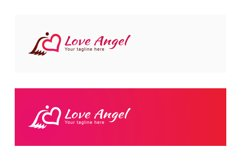 Love Angel - Cute Iconic Stock Logo Template Product Image 2