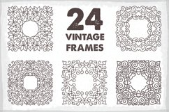 24 Vintage Vector Frames Collection Product Image 1