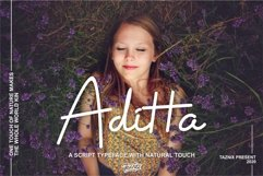 Aditta A Script Typeface With Natural Touch Product Image 1