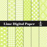 Lime Digital Paper Product Image 1