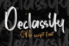 Web Font Declassify - SVG Script Font Product Image 1