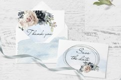 Watercolor Clipart Wedding Geometric frames Heart flowers Product Image 6