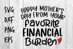 favorite financial burden SVG design Product Image 1