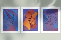 Abstract portraits wall art, Abstract modern painting print Product Image 1