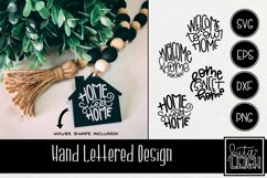 Home Hand Lettered Rounds SVG with Free House Shape Product Image 1