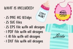 25 Baby SVG Bundle - Baby quotes SVG - New born quotes SVG Product Image 3