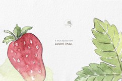 Strawberry watercolor clipart Product Image 4
