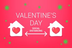 social distance for valentine day. stay home for the holiday Product Image 1