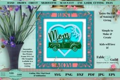 Sunflower Heart SVG Mom Mothers Day Birthday Card Cut Files for Cricut Scan N Cut Silhouette Ford Pick Up 3D Vintage Truck Card Template