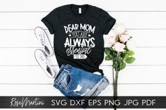 Dear Mom You Are Always Essential To Me SVG Mothers Day Product Image 6