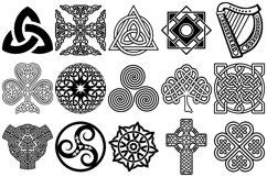 Celtic Symbols, Knots & Crosses AI EPS PNG, Irish Clip Art Product Image 2