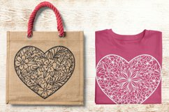 Floral Heart Zentangle SVG Product Image 3