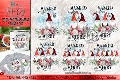 Pandemic Christmas Gnomes Sublimation Bundle Masked & Merry Product Image 1