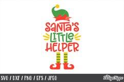 Christmas, Santa's Little Helper, SVG, DXF, PNG, Cut Files Product Image 1