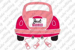 Just married, Just married car, wedding car svg, dxf, png Product Image 1
