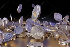 6  files - 3D rendering Bitcoins falling on a pile Product Image 2