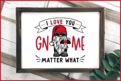 I Love You GNOME Matter What Valentines SVG, Biker Gnome SVG Product Image 6
