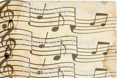 Music notes scrapbook paper, Vintage music digital paper Product Image 5