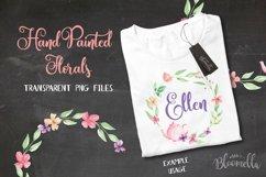 Watercolor Teapot Flower Wreath Floral Clipart Set Product Image 5