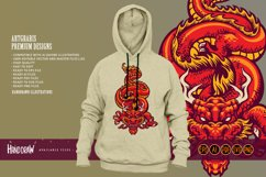 Animal Red Dragon Asia Oriental SVG Illustrations Product Image 4