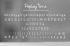 Replay Time - Handwritten Font Product Image 8