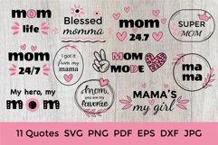 Mother Day Saying SVG. Mothers Day SVG. Mom Bundle. Mom SVG Product Image 1