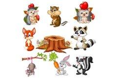 Cartoon Wild Animals Vector Set Product Image 1