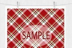 Christmas Digital Paper  - Plaid Digital Paper Product Image 2