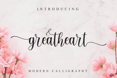 Greatheart modern calligraphy Product Image 1