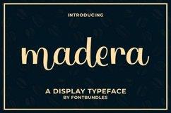Web Font Madera Product Image 1
