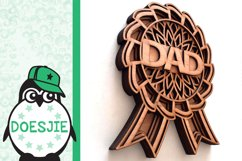 Best dad award fathers day layered mandala svg 3D 5 layers Product Image 5
