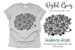 Hedgehog paper cut design SVG / DXF / EPS / PNG files Product Image 1