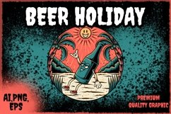 beer beach illustration Product Image 1