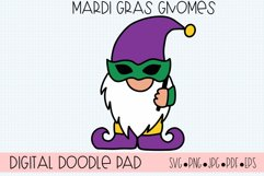 Mardi Gras Gnomes SVG Cut Files for Cricut and Silhouette Product Image 3