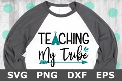Teaching My Tribe - A School SVG Cut File Product Image 2