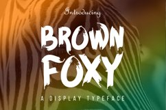 BROWN FOXY Typeface Product Image 1